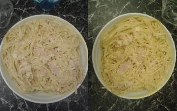 Špagety se smetanou