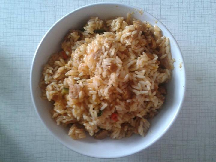 Peču a vařím :-) - Sojové maso s cuketou a rýží