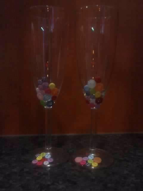 To už máme a co bude - můj výrobek aneb skleničky na přípitek :-)