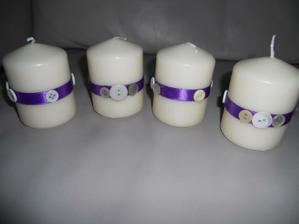 svíčky na stůl doplní svícínky
