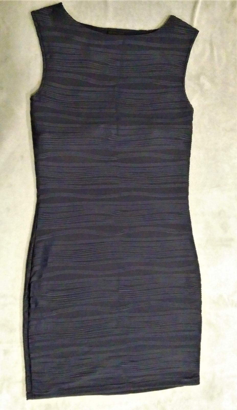 Saténová šaty velikost (34-36) - tmavě modré - Obrázek č. 1