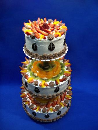19. 8. 2006 Lednice - vitezny dort, jen se 2 patry