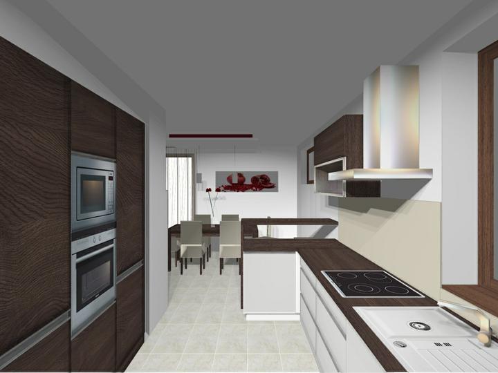 Rodinný dom Dolná Streda - kuchyňa_alternatíva 2