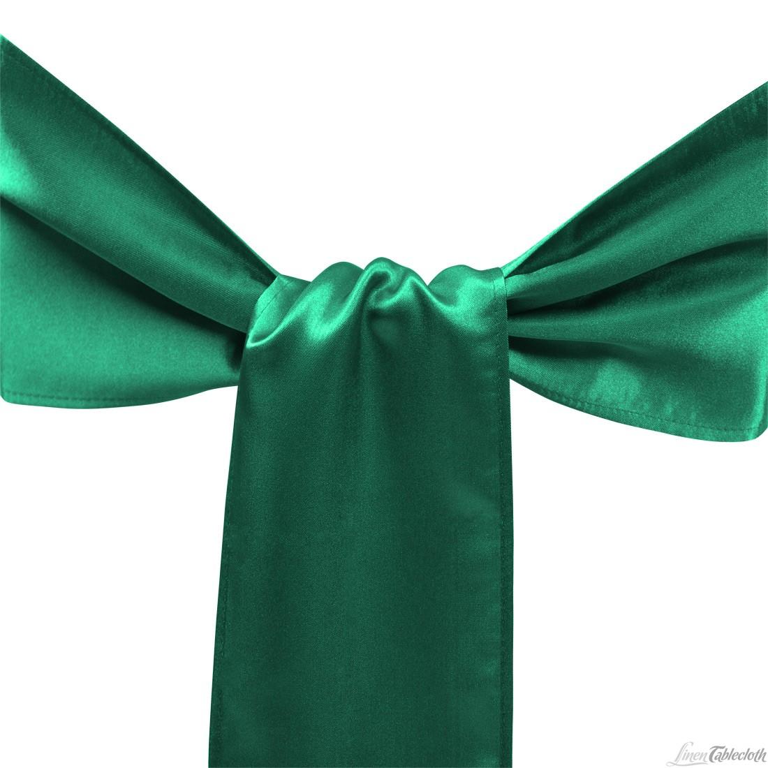 Smaragdovo zelená saténová mašla - Obrázok č. 1