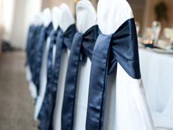Tmavomodré saténové mašle - nive blue - Obrázok č. 1