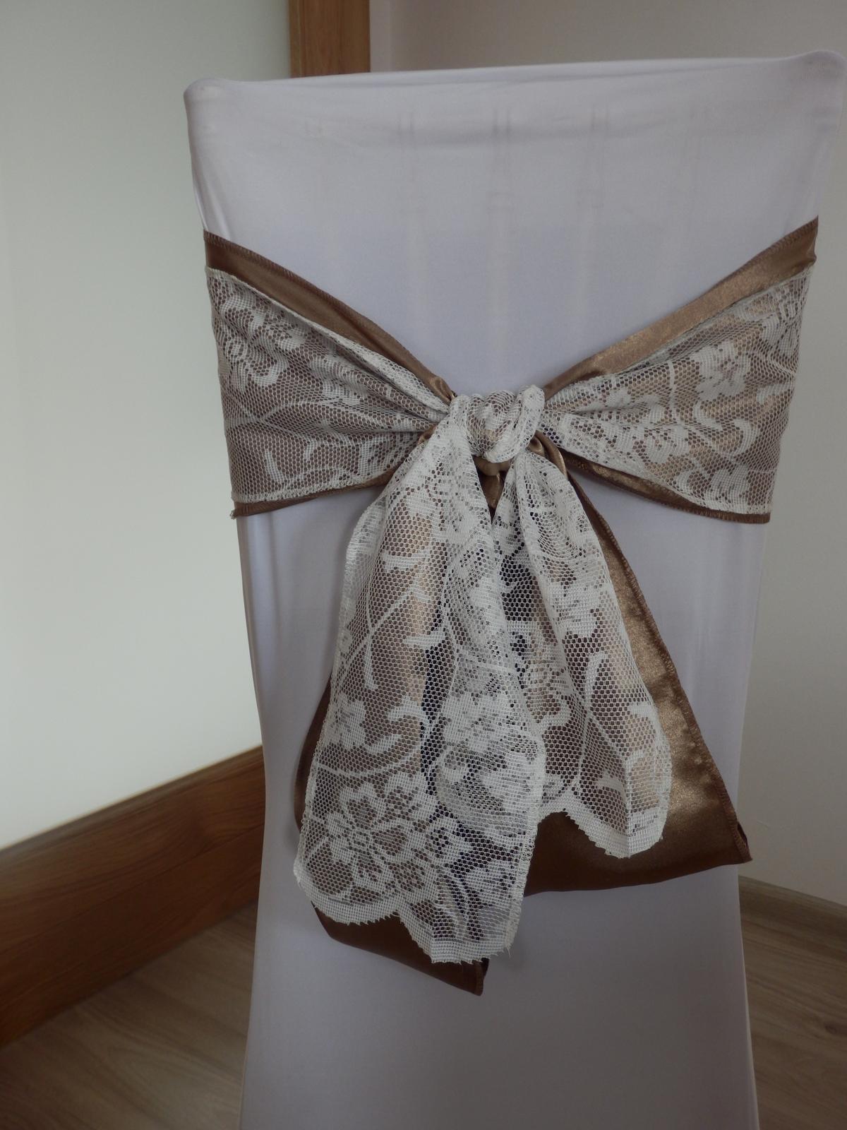 Mašla vintage smotánková - Obrázok č. 4