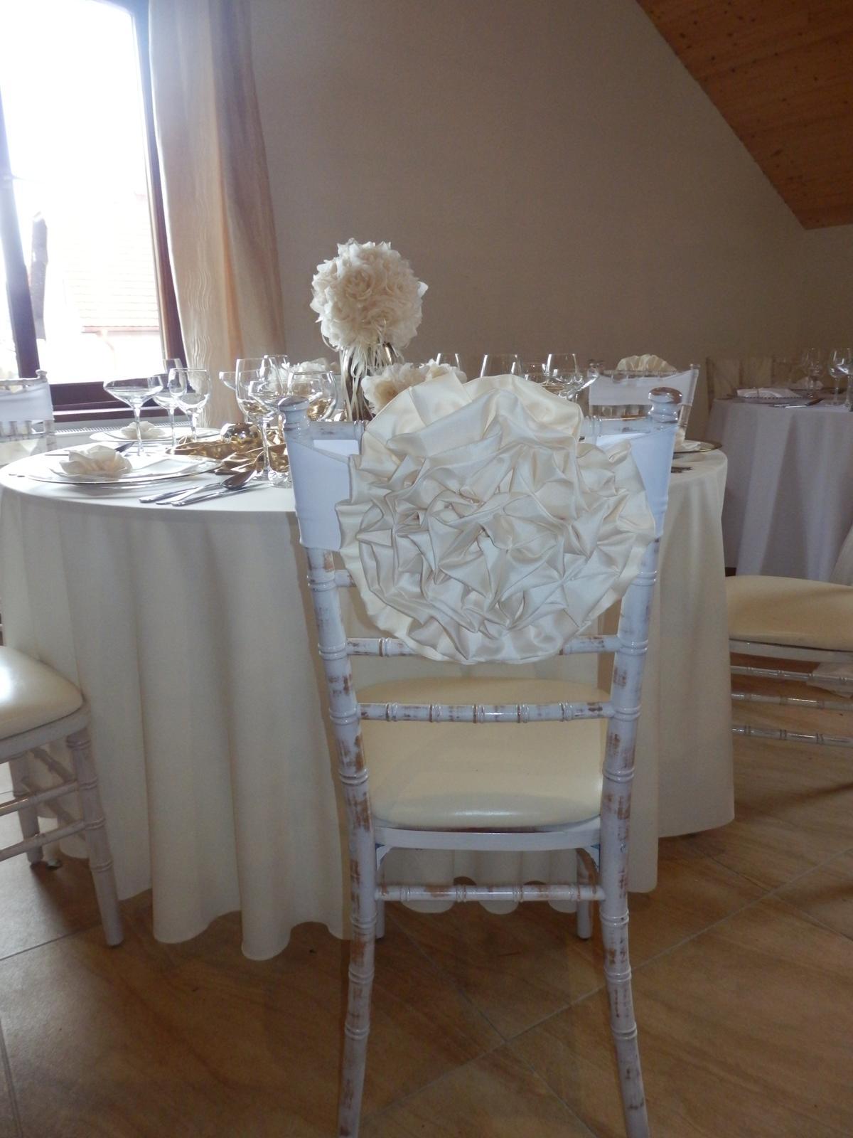 Dekorávcia na stoličku KVET - Obrázok č. 2