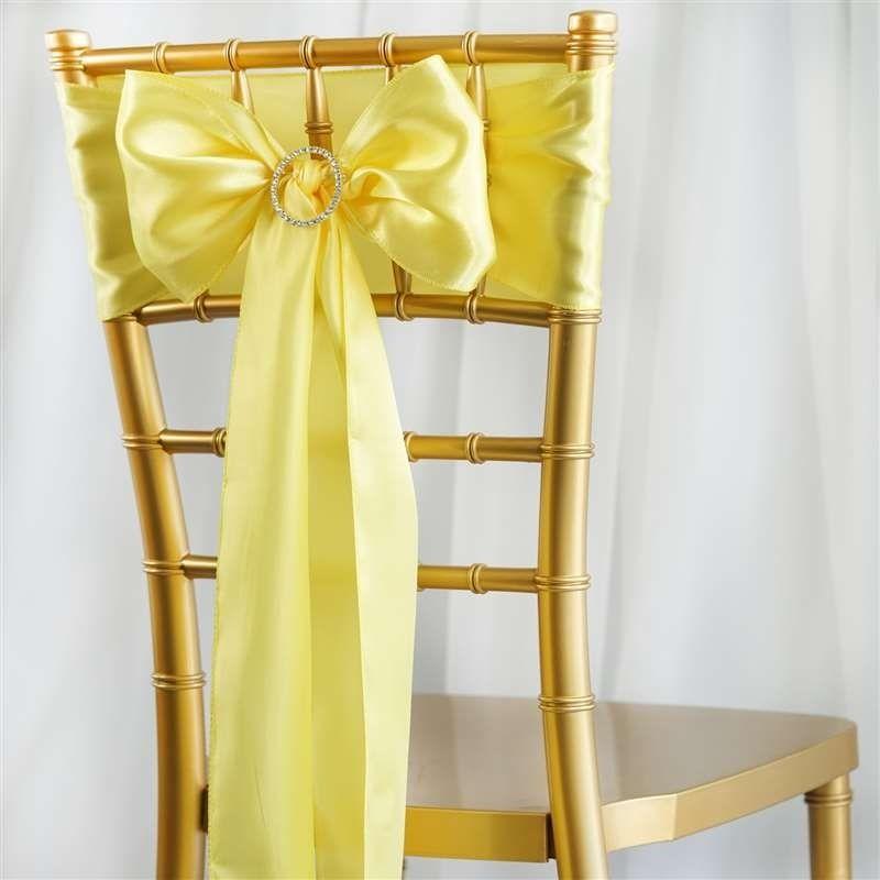 Svetla žltá saténová mašľa  - Obrázok č. 1