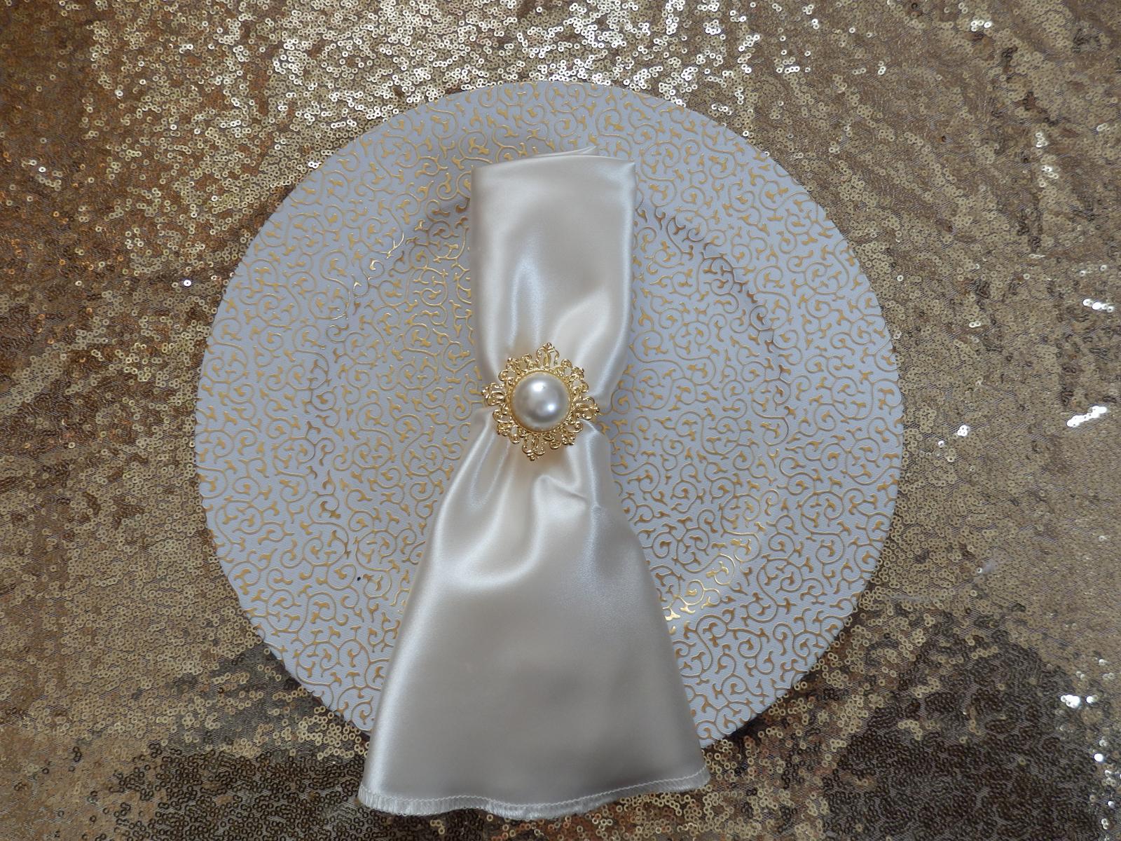 Dekoračný tanier zlatý - Obrázok č. 1