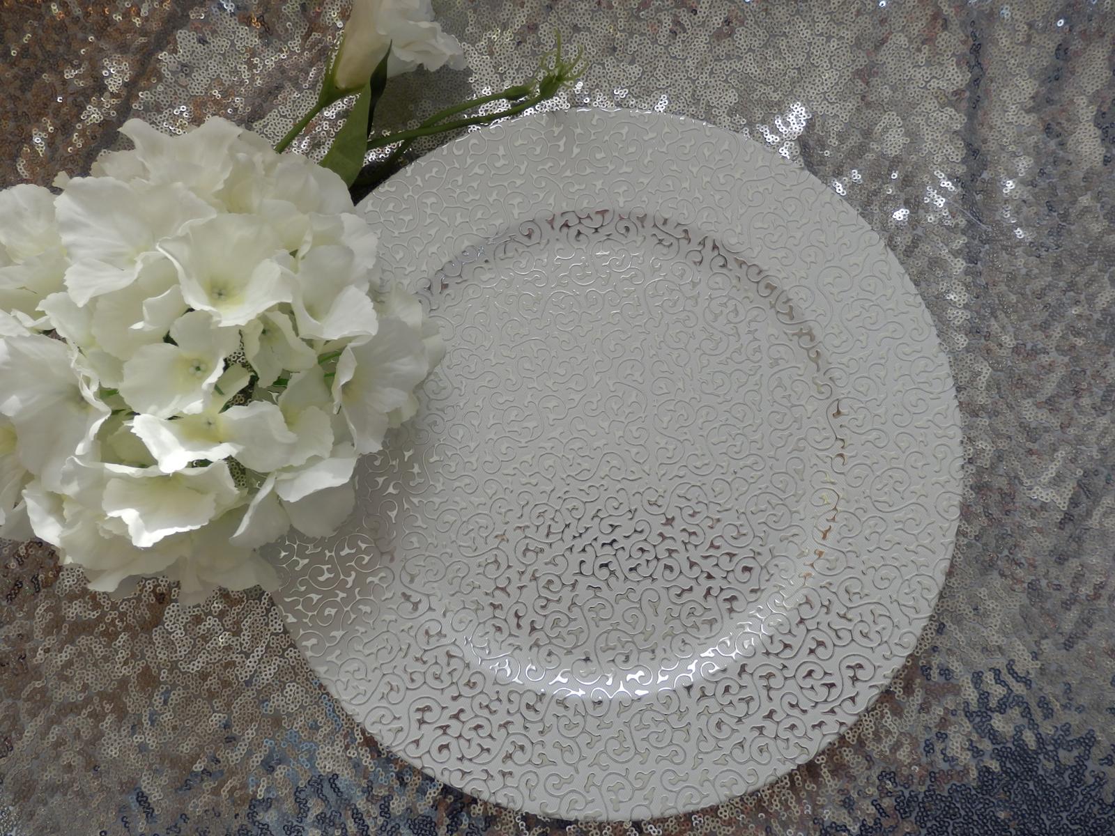 Klubový dekoračný tanier strieborný - Obrázok č. 1