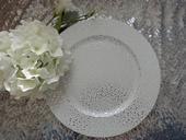 Klubový dekoračný tanier strieborný,