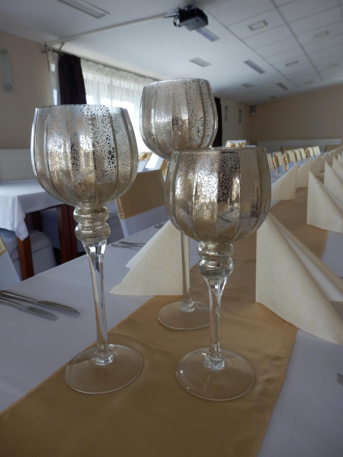 Zlaté svietniky merkury sklo - Obrázok č. 2