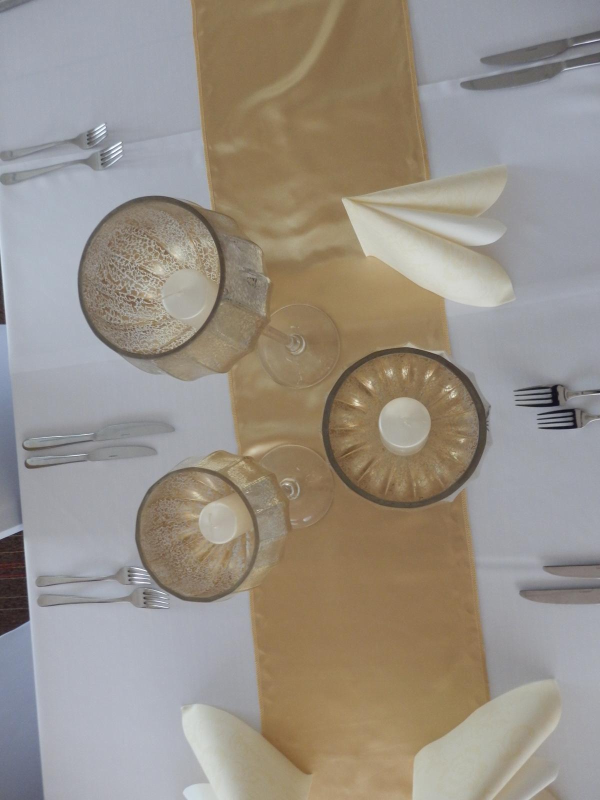 Zlaté svietniky merkury sklo - Obrázok č. 3