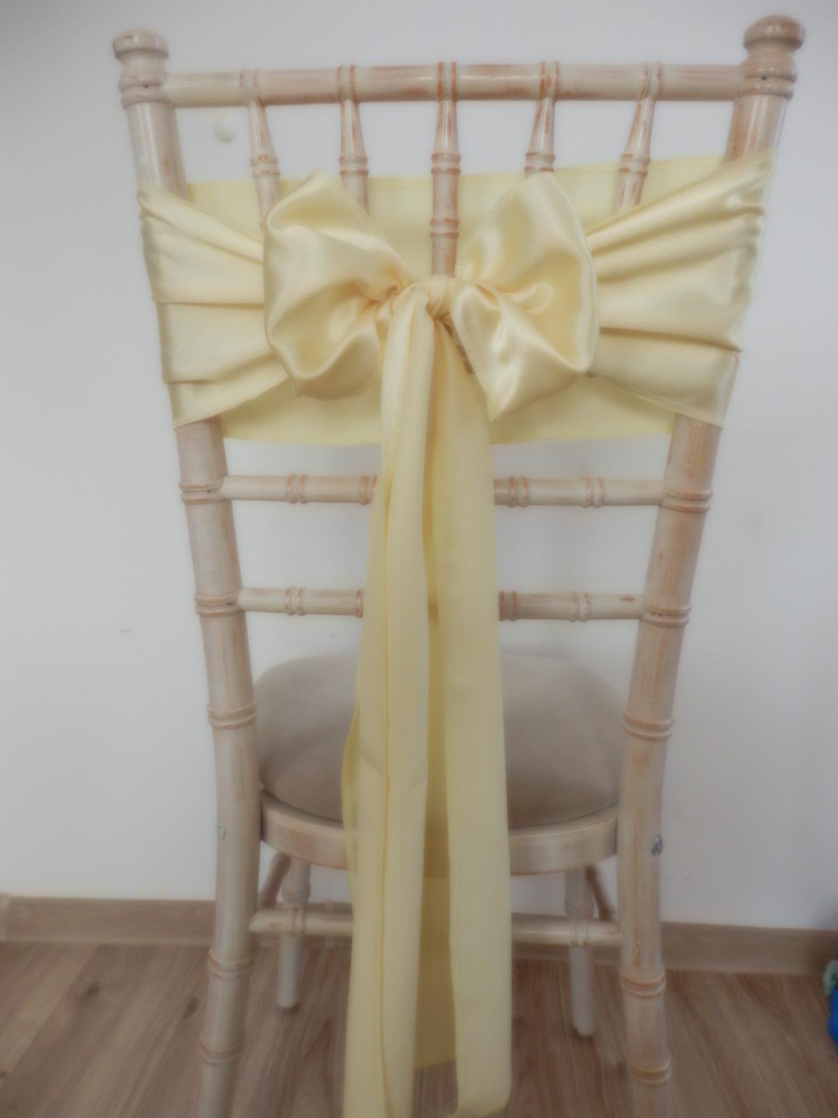 Svetlo žlté saténové mašle - Obrázok č. 1