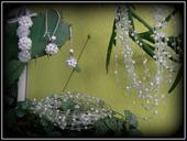 Souprava svatebních šperků bílá,