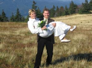 Jediná fotka, kde jsou vidět mé skutečné svatební boty