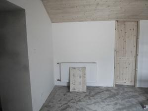 Ložnice - už dodělat jen malé detaily na palubkách, dveřích a položit koberec (vchod do šatny)