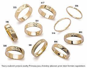 odsud máme snubní prsteny - ale naše mezi těmihle vzory nejsou