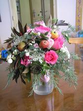 Skoro je mi líto, že ji opravdu nemůžu použít na svatbu. Tyto barvy a podzim miluju! A hodila by se mi k šatům (co ještě nejsou ušité :-D ). Dostane ji můj milý k narozeninám :-))