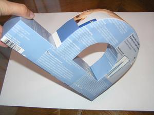 """Tyto 3D """"objekty"""" se mi fakt líbí. Vytváření mě doslova nadchlo, šlo to bez problémů. Asi začnu vyrábět písmena :-D"""