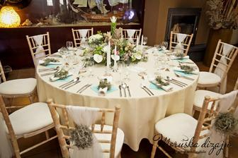 Stoličky a biela látka v tomto štýle :-)