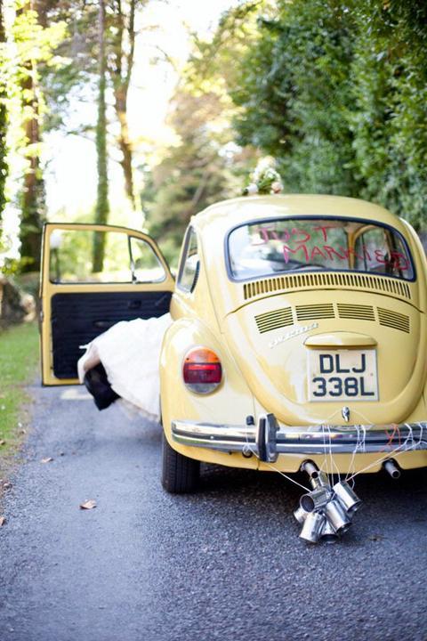 """""""Keby som sa mohla odviazať, moja svadba snov by vyzerala takto..."""" - Žlté autíčko"""