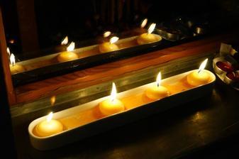 plovoucí svíčky:)