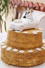 medovník - svatební dort:)