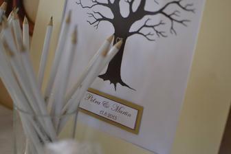 svatební strom s tužkami:)