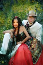 Moderný Tibetský pár