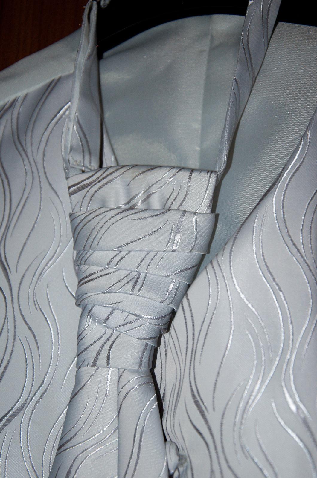 Svadobná vesta, francuzka kravata a vreckovka - Obrázok č. 1