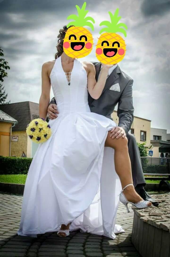 Svadobné šaty s vlečkou xs/s/m - Obrázok č. 3
