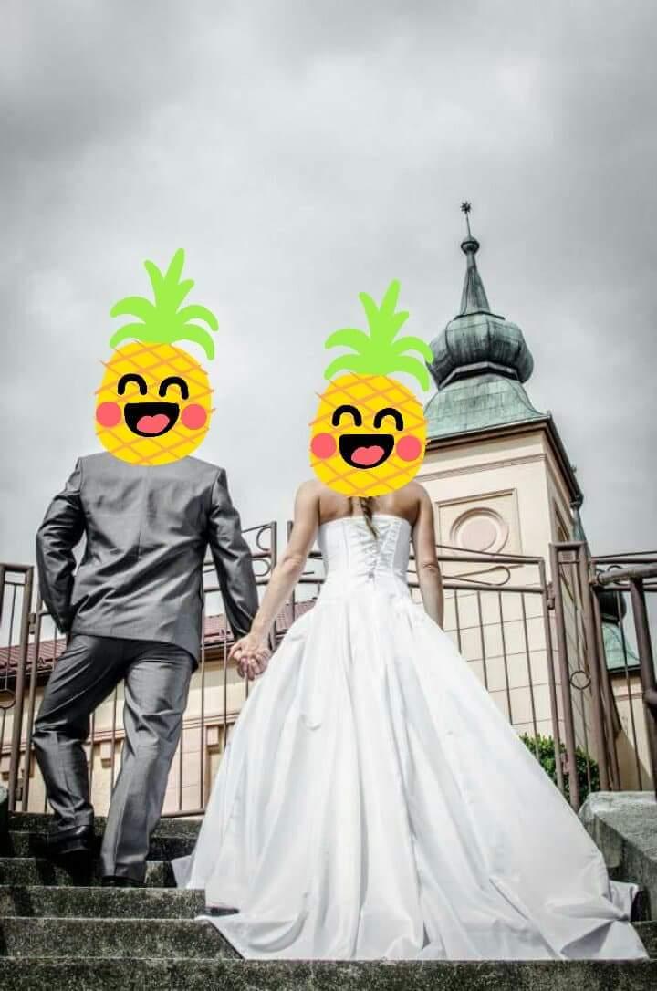 Svadobné šaty s vlečkou xs/s/m - Obrázok č. 2