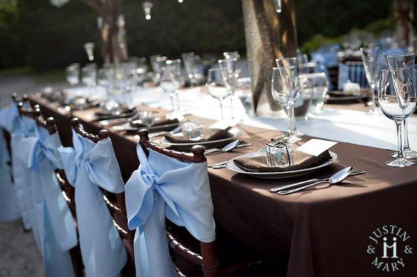 Modro Hneda Kombinace Na Svatbe Kde Neco Sezenu