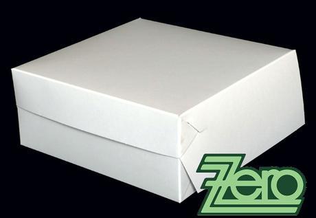 Krabice papírová dortová 22 x 22 cm - bílá - Obrázek č. 1