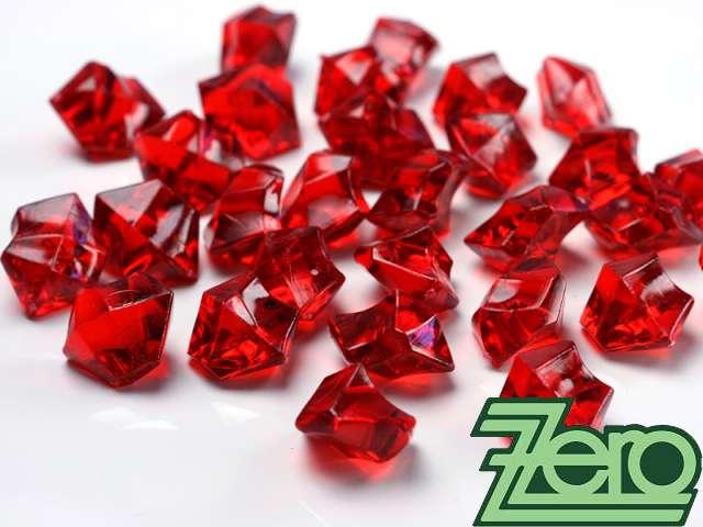 Kamínky v imitaci křišťálu 25 mm (50 ks) - červené - Obrázek č. 1