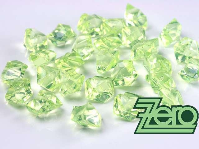 Kamínky v imitaci křišťálu 25 mm (50 ks) - zelené - Obrázek č. 1