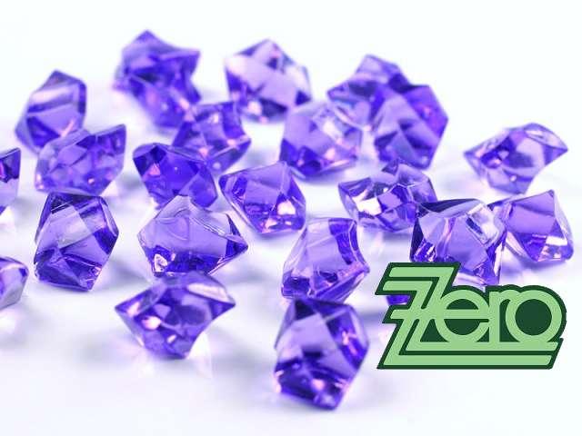 Kamínky v imitaci křišťálu 25 mm (50 ks) - fialové - Obrázek č. 1