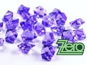 Kamínky v imitaci křišťálu 25 mm (50 ks) - fialové,