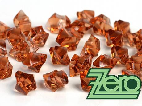 Kamínky v imitaci křišťálu 25 mm (50 ks) - karamel - Obrázek č. 1