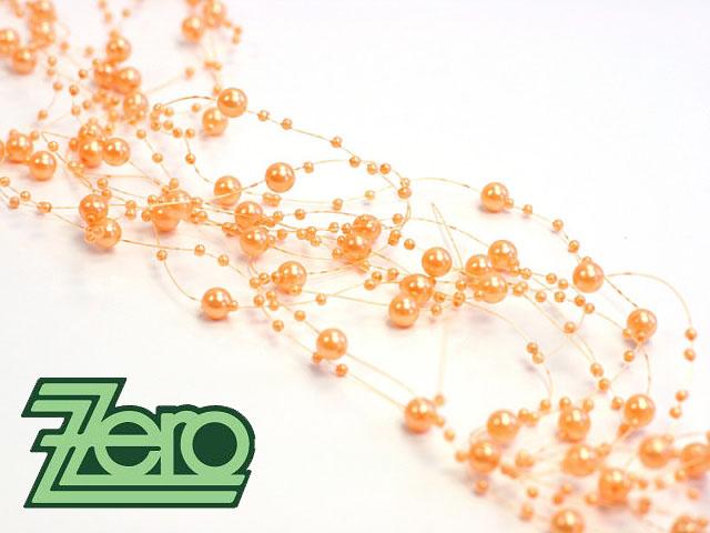 Girlanda z perel 5 ks x 130 cm - oranžová - Obrázek č. 1