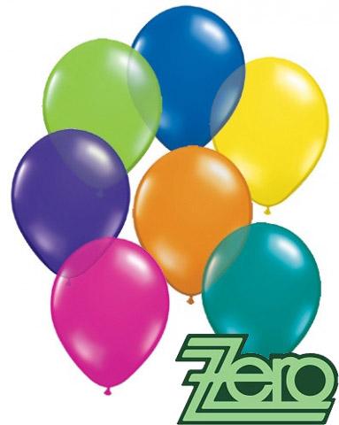 Balónky nafukovací Ø 26 metalové 100 ks - mix  - Obrázek č. 1