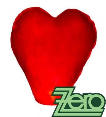 Lampión štěstí létající - srdce červené - Obrázek č. 1