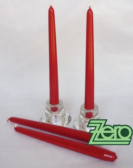 Svíčka dlouhá 24 cm - červená (lak) - Obrázek č. 1