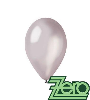 Balónky nafukovací Ø 26 metalově stříbrné 100 ks - Obrázek č. 1