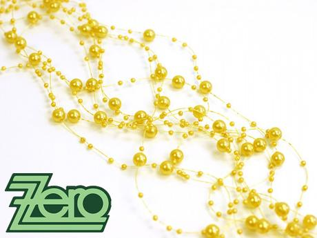 Girlanda z perel 5 ks x 130 cm - žlutá - Obrázek č. 1
