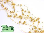 Girlanda z perel 5 ks x 130 cm - žlutá pastelová,