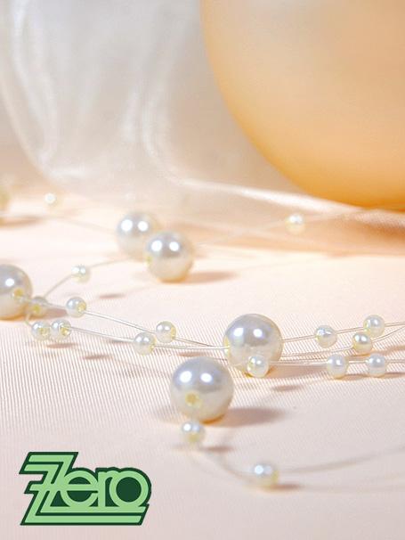 Girlanda z perel 5 ks x 130 cm - krémová - Obrázek č. 3