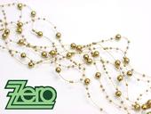 Girlanda z perel 5 ks x 130 cm - zlatá,