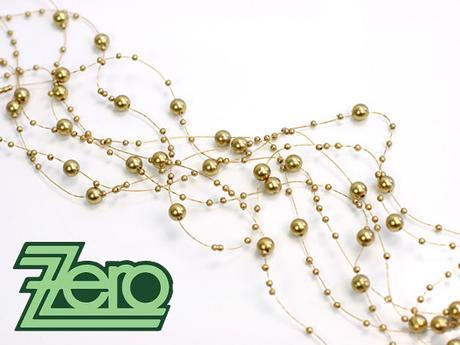 Girlanda z perel 5 ks x 130 cm - zlatá - Obrázek č. 1
